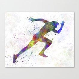 Man running sprinting jogging Canvas Print