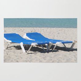Deck Chairs on Beach Rug