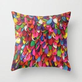 Rainbow Balloons Deflated Throw Pillow