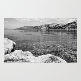 Island of Krk black and white Rug