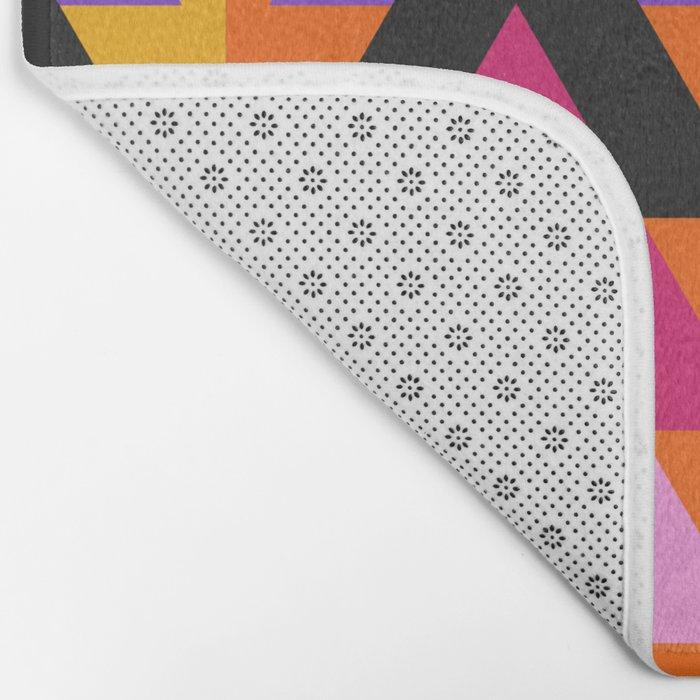 Multicolored arrows and bright stripes Bath Mat