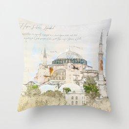 Hagia Sophia, Istanbul Throw Pillow