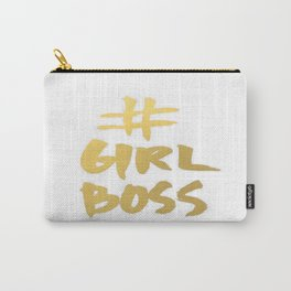 Gold Foil Girl Boss Inspiration Quote Office Boss Babe Brushstroke Watercolor Ink Classic Carry-All Pouch