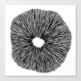 Mushroom sporeprint Canvas Print
