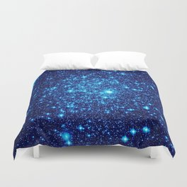 Vivid Blue gALaxY Stars Duvet Cover