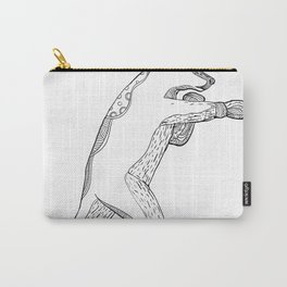 Grizzly Bear Boxing Doodle Art Carry-All Pouch