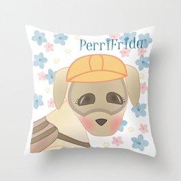 PerriFrida Rescatista de #FuerzaMexico Throw Pillow
