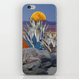 DESERT MOON AGAVE  LANDSCAPE CACTUS ART iPhone Skin