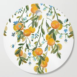A Bit of Spring and Sushine Trailing Oranges Cutting Board