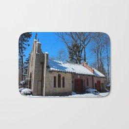 Portiuncula Chapel in Winter II Bath Mat