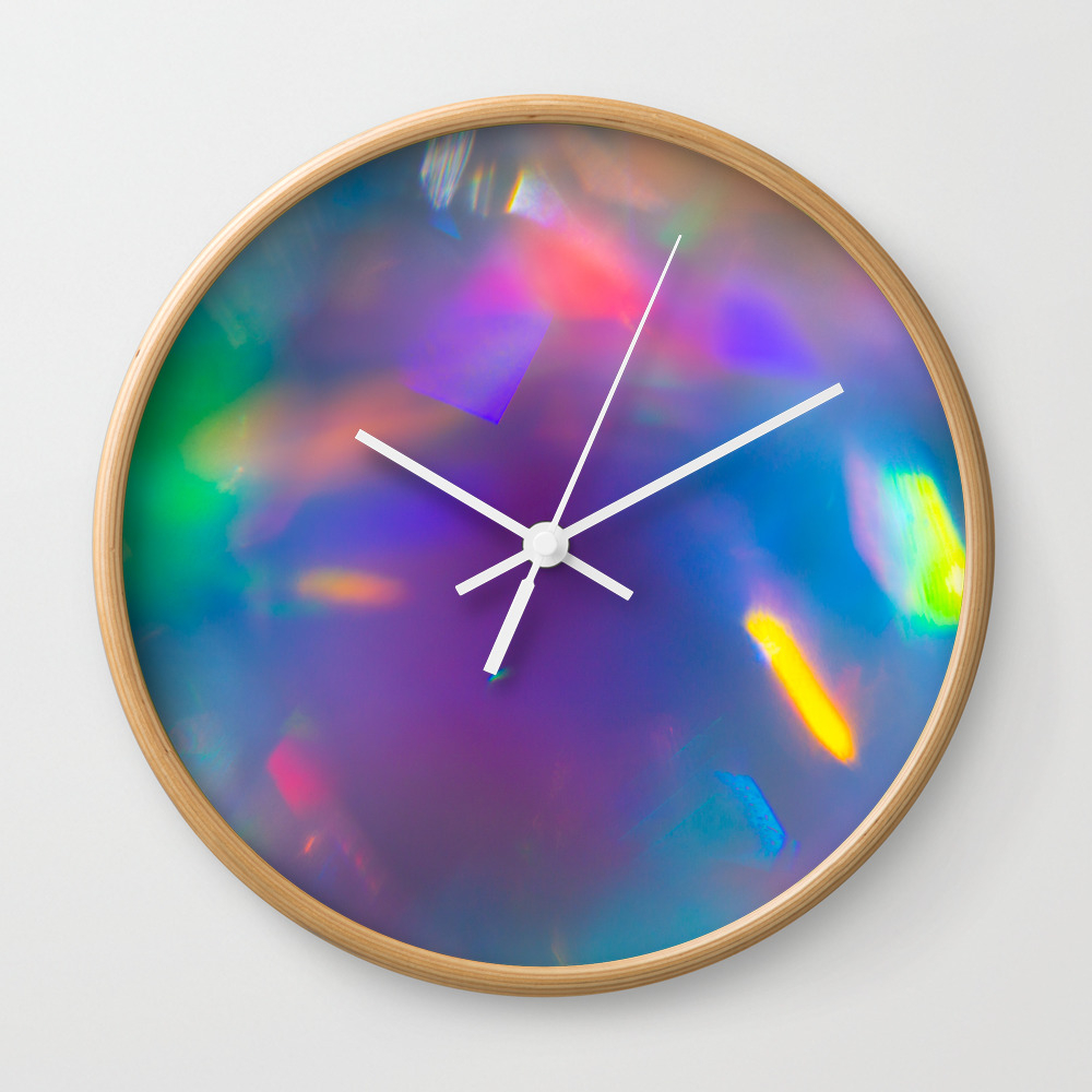 Prisms Play Of Light 7 Wall Clock by Mjsergi CLK9139355
