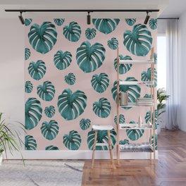 Tropical Monstera Dream #7 #tropical #pattern #decor #art #society6 Wall Mural