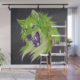 Ravewolf - Lime and Grape Wall Mural