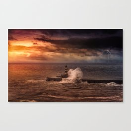 Poseidons Wrath Canvas Print
