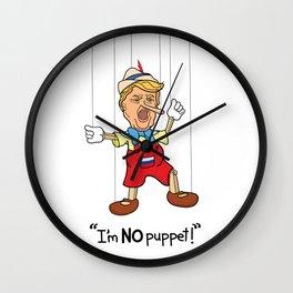 Funny Donald Trump Pinocchio I'm No Puppet Wall Clock