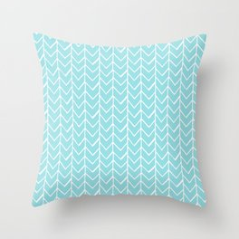 Herringbone Island Paradise Throw Pillow