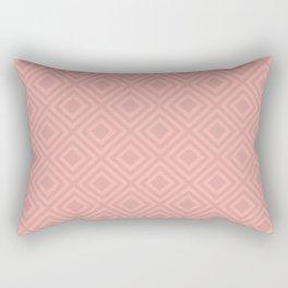 Blush Pink Modern Geometric Pattern Rectangular Pillow