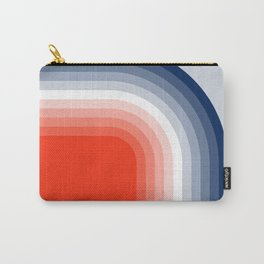 70s Stripes Rainbow Carry-All Pouch