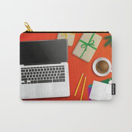 workplace at christmas time Carry-All Pouch