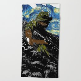 The Silent Soldier Beach Towel