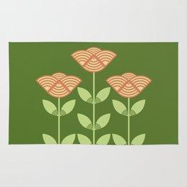 Three Japanese style flowers Rug