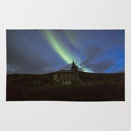 Kong Oscar IIs kapell under aurora sky Rug