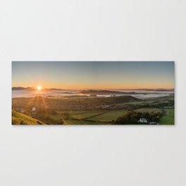 A Foggy Sunset Canvas Print