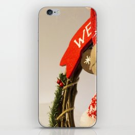 Christmas theme with reindeer ornaments iPhone Skin