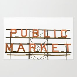Pike Place Public Farmers Market - Sunrise Rug