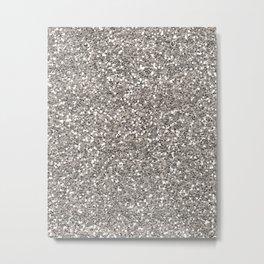 Silver Glitter I Metal Print
