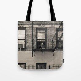 Portrait of a Dog - Urban City Landscape Photography Tote Bag