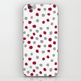 University of Alabama colors dots polka dots minimal pattern college football sports iPhone Skin