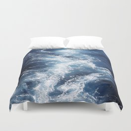 Marble Sea Waves Duvet Cover