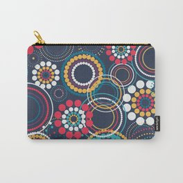 Flowers of Circles Carry-All Pouch