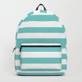 Horizontal Aqua Stripes Backpack