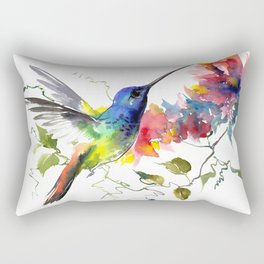 Hummingbird, tropical Foliage, Hawaiian design, tropical, colors Rectangular Pillow