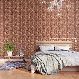 Rose gold hexaglam blonde Wallpaper