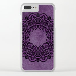Circle in Purple Clear iPhone Case