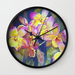 Dendrobium Orchids Wall Clock