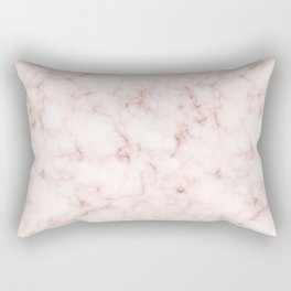 Blush Pink Abstract Marble Pattern Rectangular Pillow