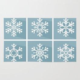 Snowflake flat design Rug
