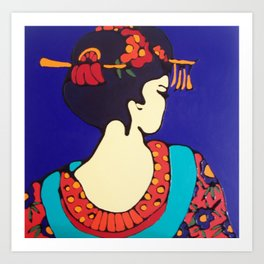 Geisha Profile #2 Art Print