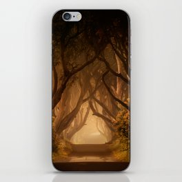 Sunny morning at Dark Hedges iPhone Skin