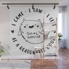 Social Ghoster Wall Mural