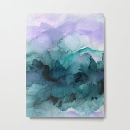 Dream away abstract watercolor Metal Print