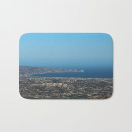 View On Heracleon And The Sea On Crete in Greece Bath Mat