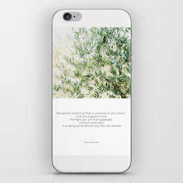 Quote Rilke Live the Questions iPhone Skin