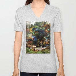 shadow of the witcher Unisex V-Neck