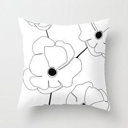 Bloomed Flower Throw Pillow