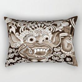 Bali Mask - Black and White Rectangular Pillow